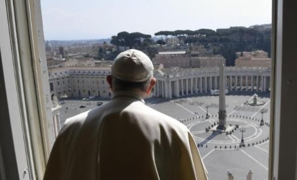 Vendredi 27 18h Benediction urbi et orbi et Indulgence Pl  par le pape depuis la Place ST Pierre   Pape-francois-place-saint-pierre-vide