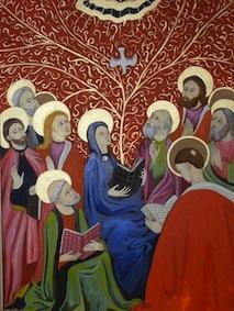 Descente de Marie sur les Apôtres