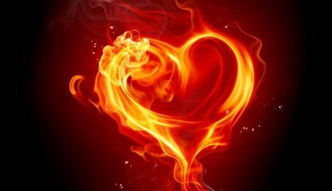 avent coeur flamme